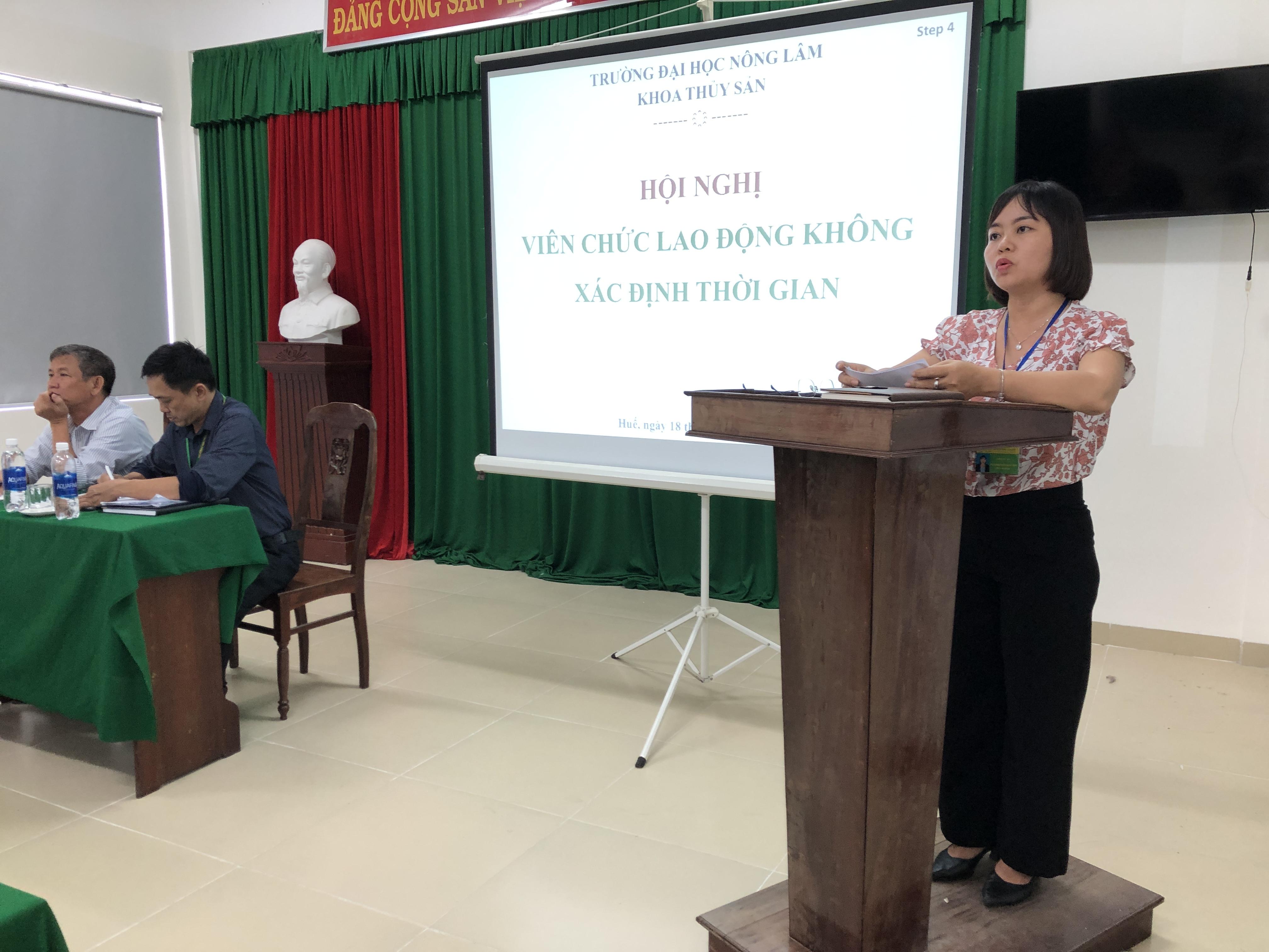 PGS.TS. Nguyễn Duy Quỳnh Trâm phát biểu ý kiến và trình bày kế hoạch hành động trong nhiệm kỳ 2020-2025